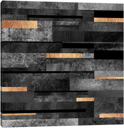 Urban Black And Gold Canvas Art Print