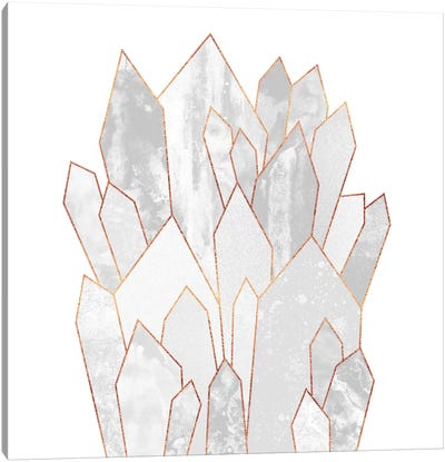 White Crystals Canvas Art Print
