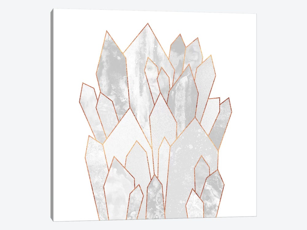 White Crystals 1-piece Canvas Wall Art