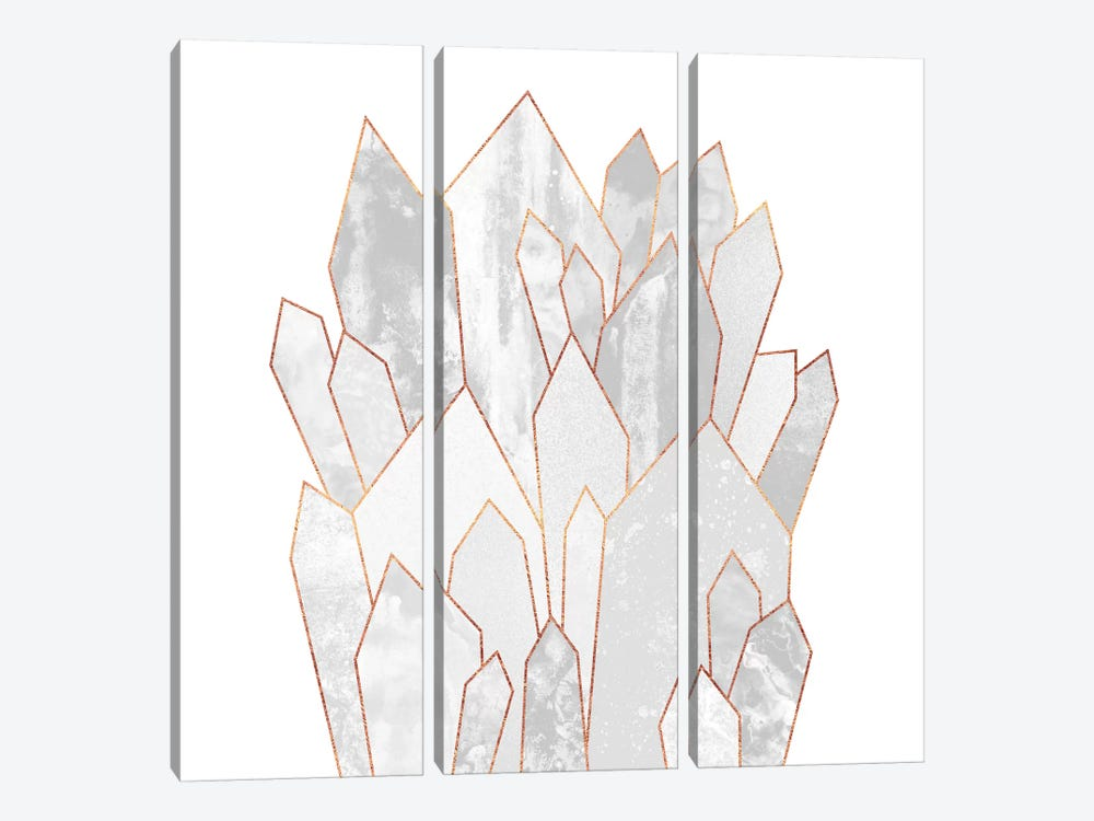 White Crystals by Elisabeth Fredriksson 3-piece Canvas Artwork