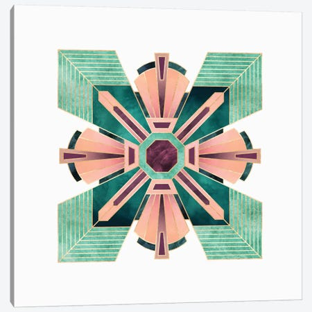Art Deco Flower Canvas Print #ELF183} by Elisabeth Fredriksson Canvas Artwork
