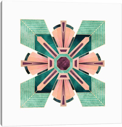 Art Deco Flower Canvas Art Print