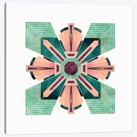 Art Deco Flower Canvas Print #ELF183} by Elisabeth Fredriksson Canvas Artwork