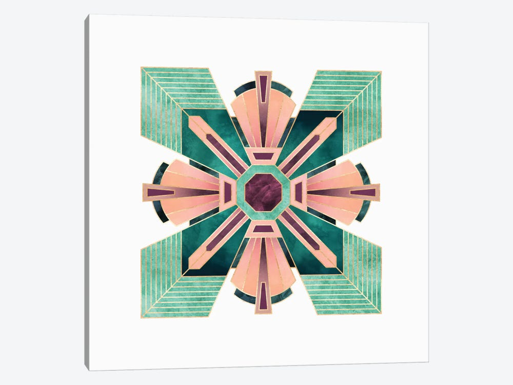 Art Deco Flower by Elisabeth Fredriksson 1-piece Canvas Print