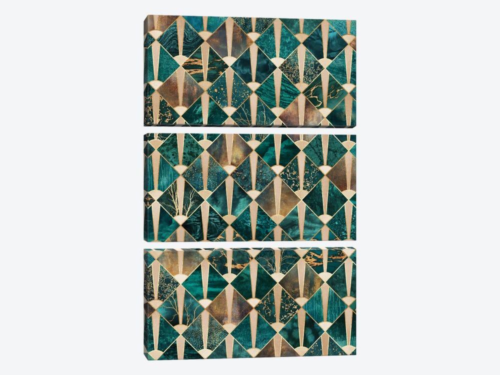 Art Deco Tiles I by Elisabeth Fredriksson 3-piece Canvas Art Print