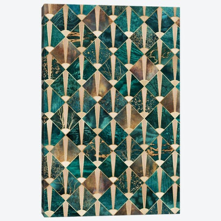 Art Deco Tiles I Canvas Print #ELF185} by Elisabeth Fredriksson Art Print
