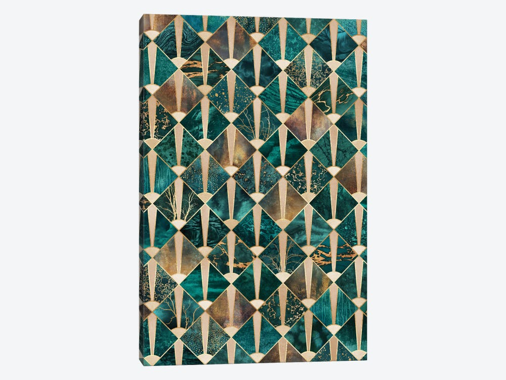 Art Deco Tiles I by Elisabeth Fredriksson 1-piece Canvas Print