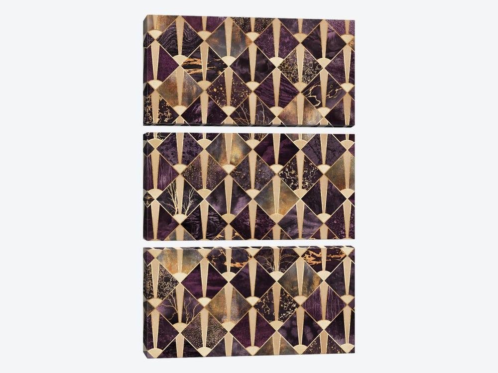 Art Deco Tiles II by Elisabeth Fredriksson 3-piece Canvas Artwork