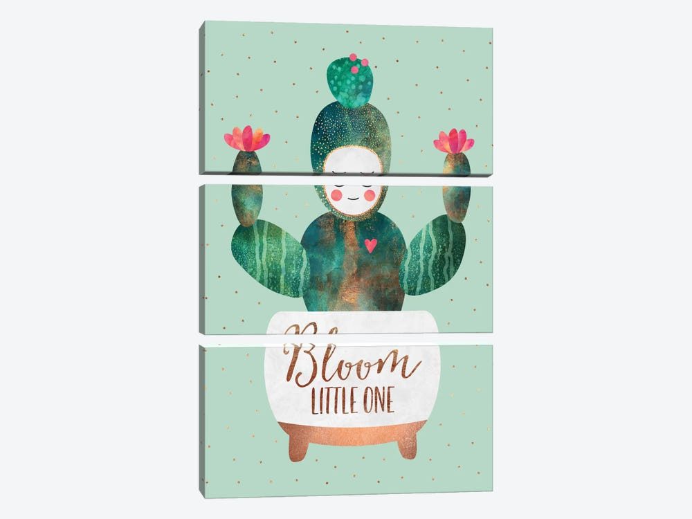 Bloom Little One by Elisabeth Fredriksson 3-piece Canvas Print