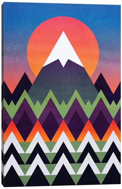 Camp Sunset Canvas Art Print