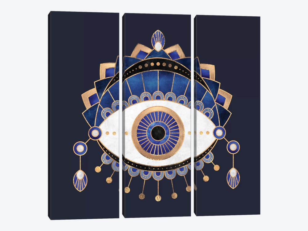 Blue Eye by Elisabeth Fredriksson 3-piece Canvas Art Print