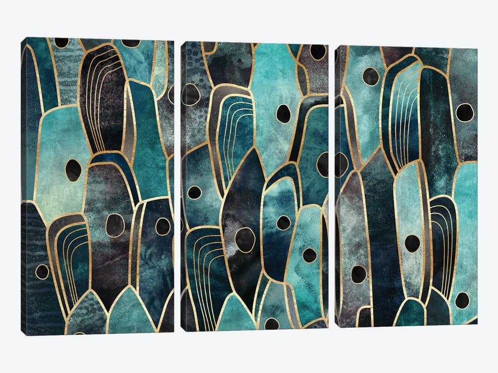 Cepa III by Elisabeth Fredriksson 3-piece Canvas Art