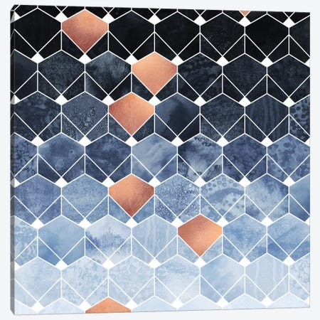 Copper Diamonds Canvas Print #ELF194} by Elisabeth Fredriksson Canvas Artwork