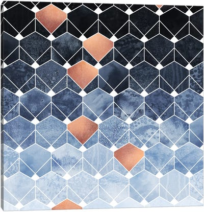 Copper Diamonds Canvas Art Print