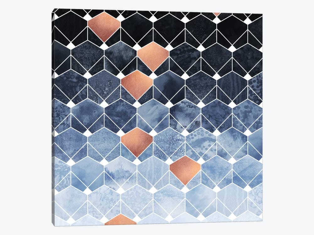 Copper Diamonds by Elisabeth Fredriksson 1-piece Canvas Art Print