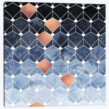 Copper Diamonds Canvas Print #ELF194} by Elisabeth Fredriksson Canvas Artwork
