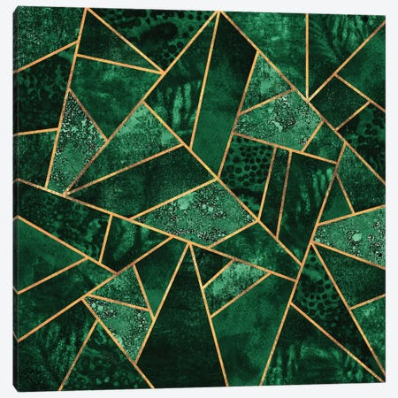 Deep Emerald Canvas Print #ELF195} by Elisabeth Fredriksson Canvas Artwork