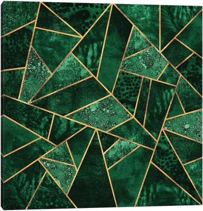 Deep Emerald Canvas Art Print