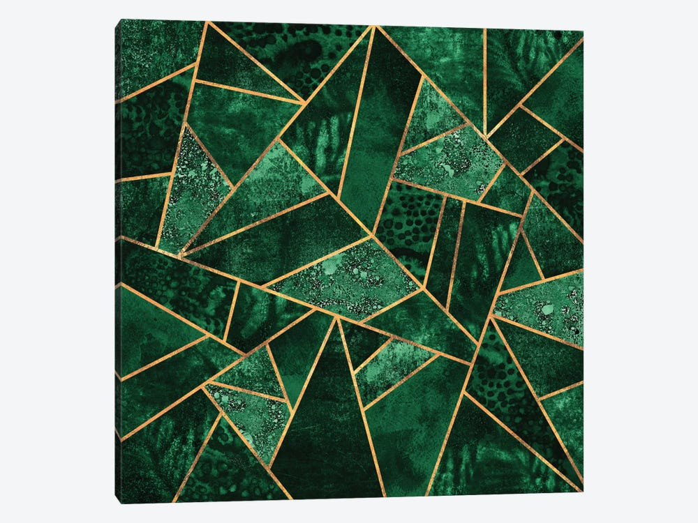 Deep Emerald by Elisabeth Fredriksson 1-piece Canvas Artwork
