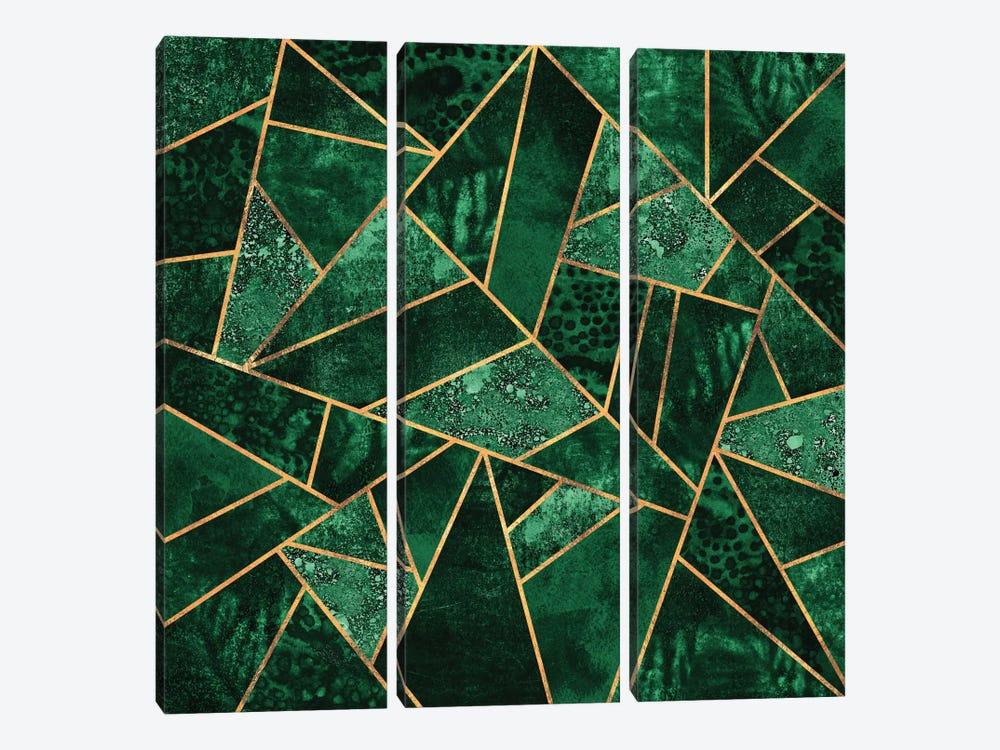 Deep Emerald by Elisabeth Fredriksson 3-piece Canvas Artwork