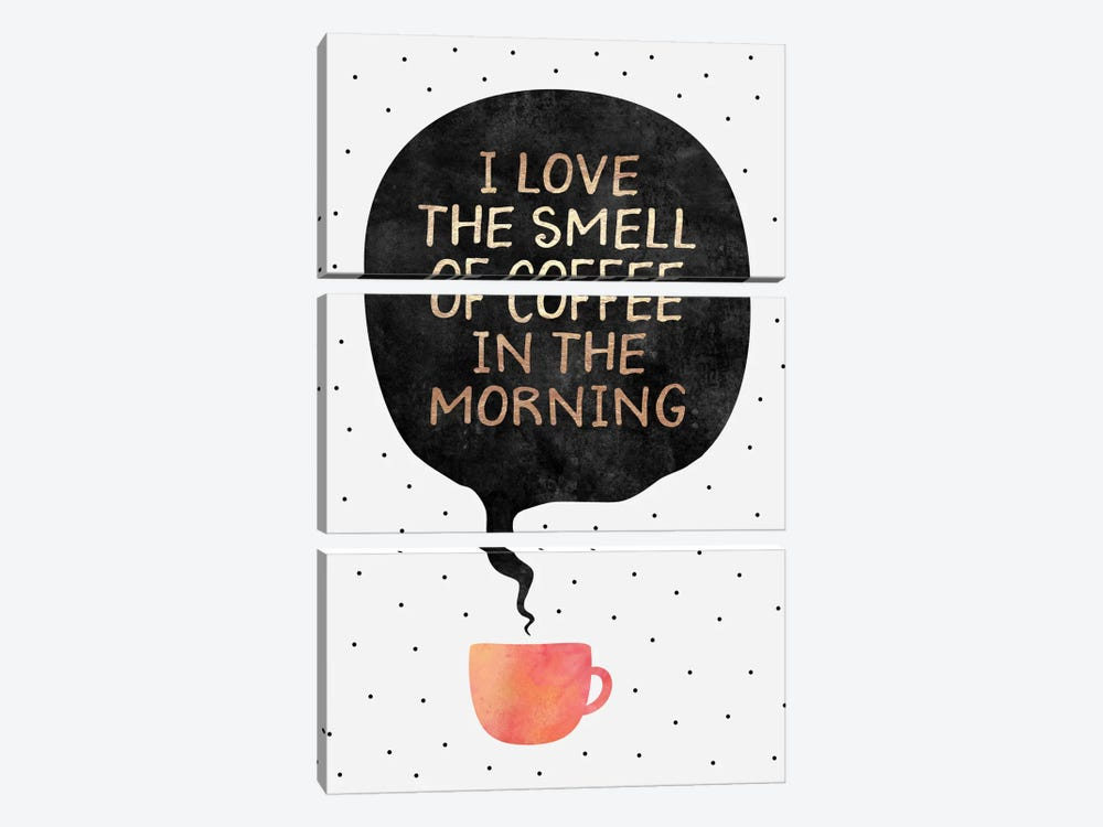 I Love The Smell Of Coffee In The Morning by Elisabeth Fredriksson 3-piece Art Print