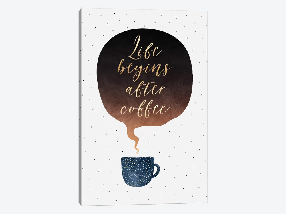 Life Begins After Coffee by Elisabeth Fredriksson 1-piece Canvas Artwork