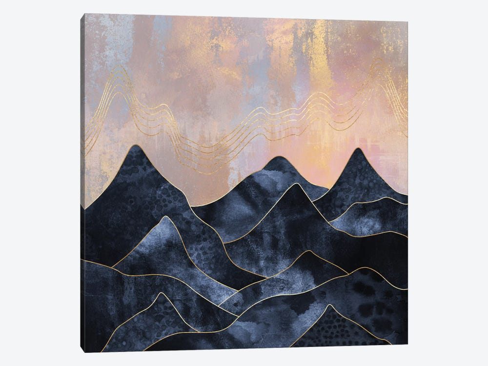 Mountainscape by Elisabeth Fredriksson 1-piece Canvas Artwork