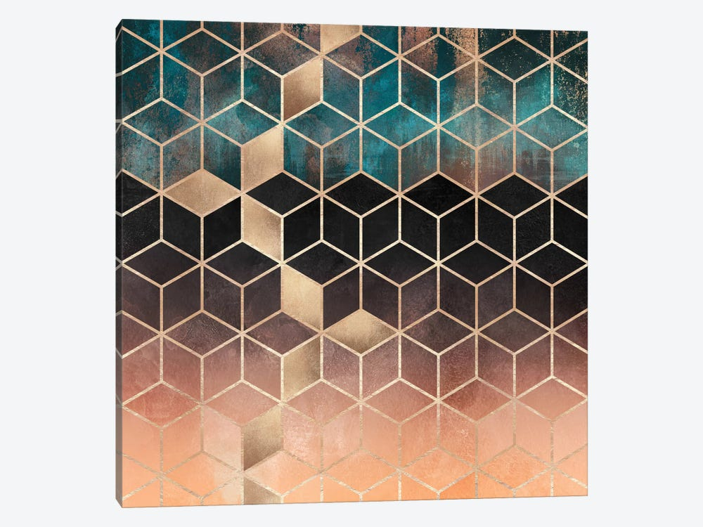 Ombre Dream Cubes by Elisabeth Fredriksson 1-piece Canvas Art