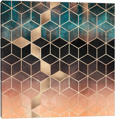 Ombre Dream Cubes Canvas Art Print
