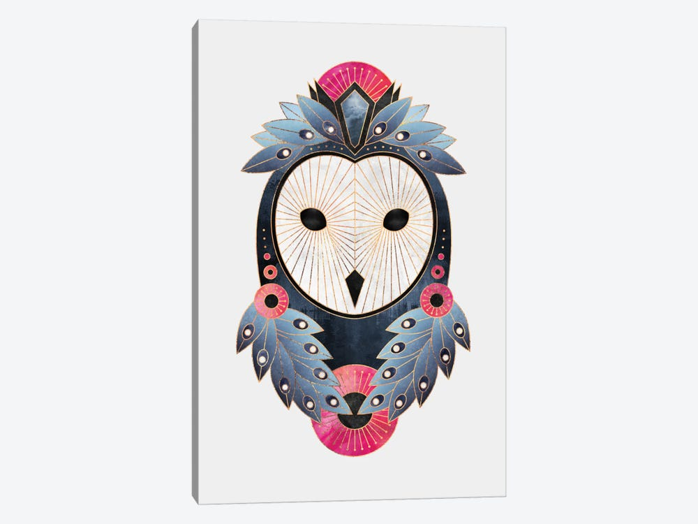 Owl II by Elisabeth Fredriksson 1-piece Canvas Artwork