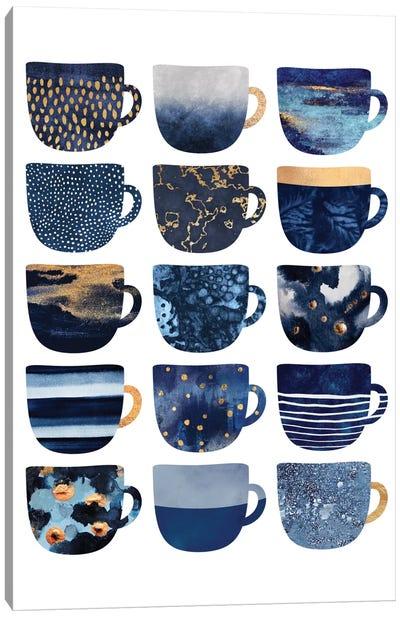 Pretty Blue Coffee Cups I Canvas Art Print