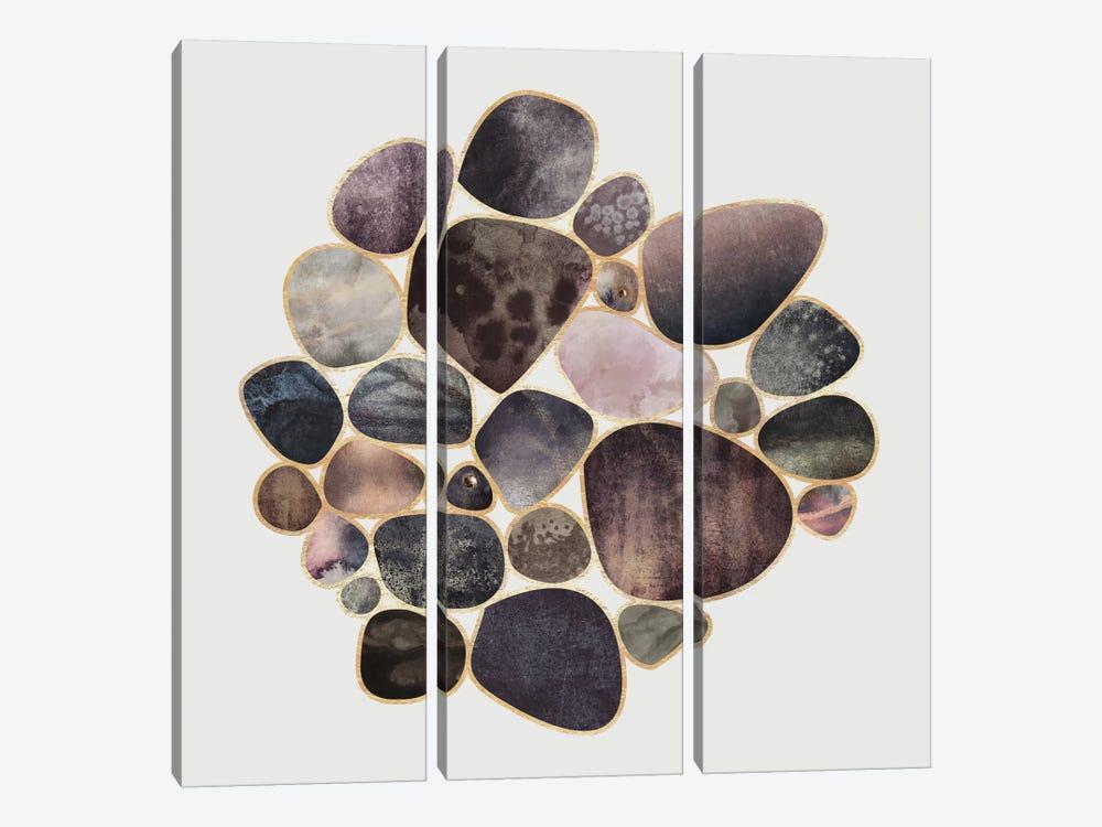 Rock Collection by Elisabeth Fredriksson 3-piece Canvas Art Print