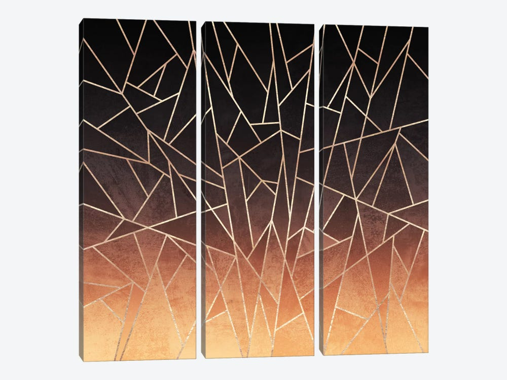 Shattered Ombre by Elisabeth Fredriksson 3-piece Art Print