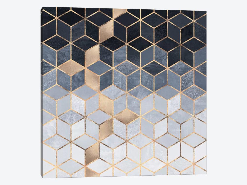 Soft Blue Cubes by Elisabeth Fredriksson 1-piece Canvas Art Print