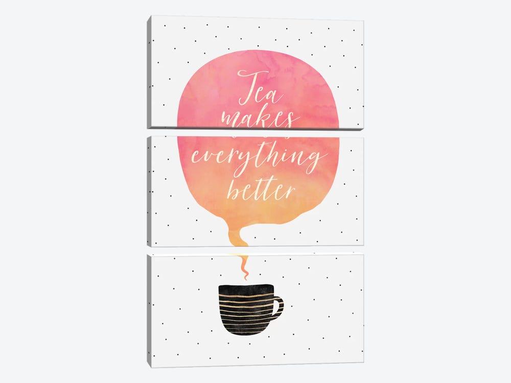 Tea Makes Everything Better by Elisabeth Fredriksson 3-piece Canvas Art Print