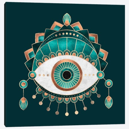 Teal Eye Canvas Print #ELF211} by Elisabeth Fredriksson Canvas Wall Art