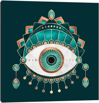 Teal Eye Canvas Print #ELF211