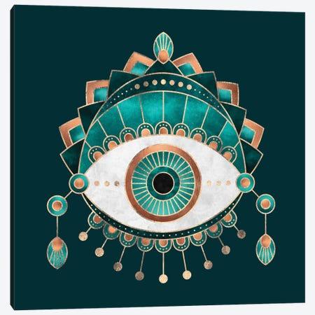 Teal Eye Canvas Print #ELF211} by Elisabeth Fredriksson Canvas Wall Art