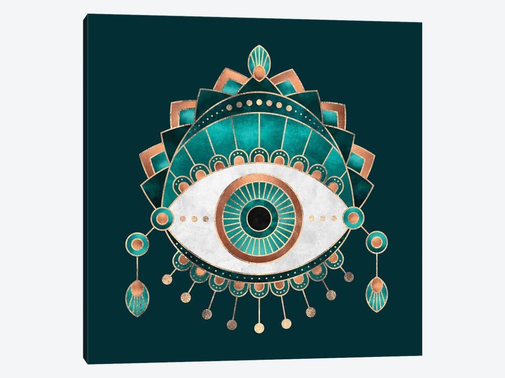 Teal Eye by Elisabeth Fredriksson 1-piece Canvas Artwork