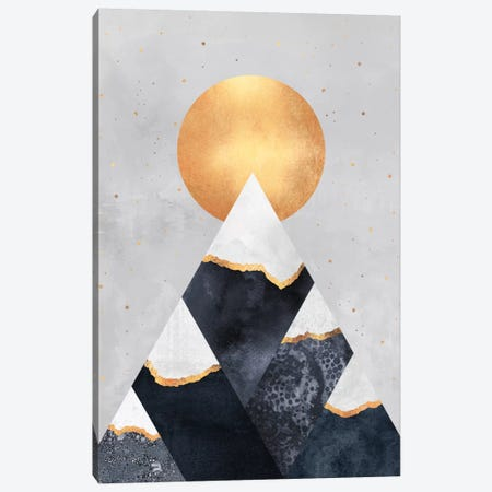 Winter Mountains Canvas Print #ELF214} by Elisabeth Fredriksson Canvas Art Print