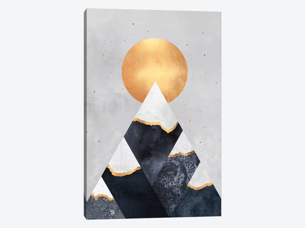Winter Mountains by Elisabeth Fredriksson 1-piece Canvas Print