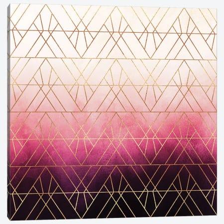 Art Deco Triangle Ombre Canvas Print #ELF215} by Elisabeth Fredriksson Art Print