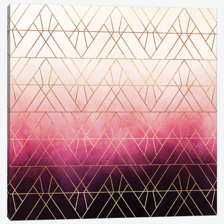 Art Deco Triangle Ombre Canvas Print #ELF215} by Elisabeth Fredriksson Art Print