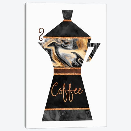 Coffee Canvas Print #ELF21} by Elisabeth Fredriksson Art Print
