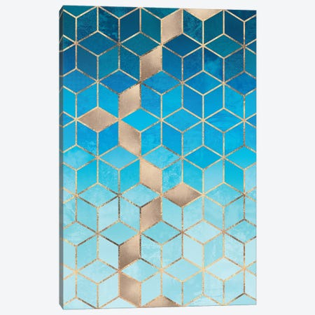 Sea And Sky Cubes Canvas Print #ELF223} by Elisabeth Fredriksson Canvas Art Print
