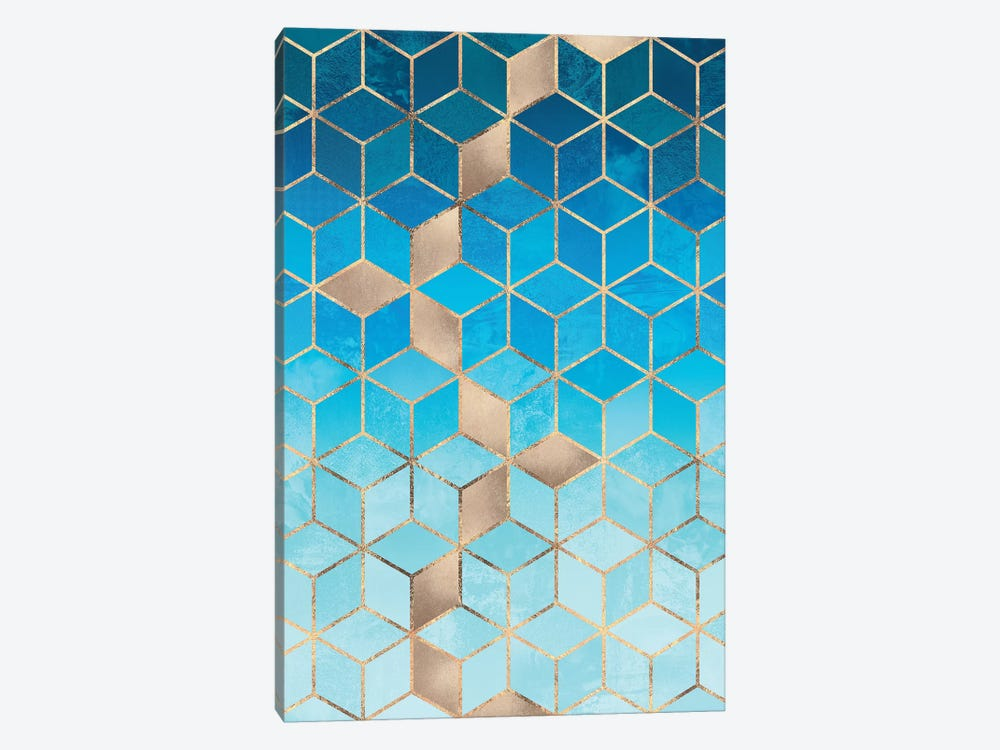 Sea And Sky Cubes by Elisabeth Fredriksson 1-piece Canvas Print