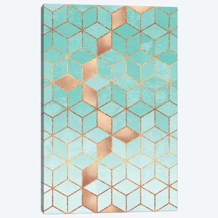Soft Gradient Aquamarine Canvas Print #ELF225} by Elisabeth Fredriksson Canvas Artwork