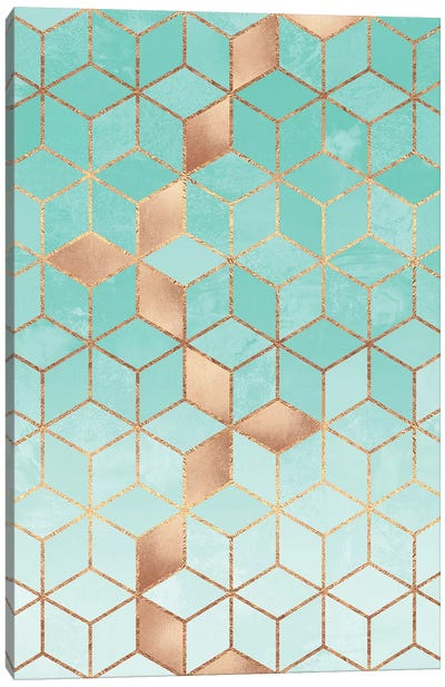 Soft Gradient Aquamarine Canvas Art Print