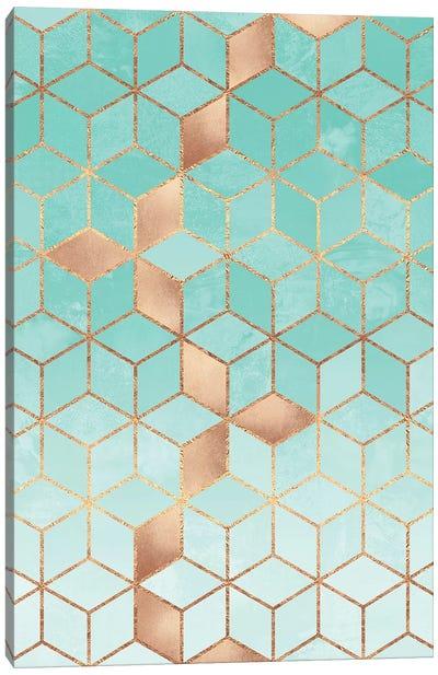Soft Gradient Aquamarine Canvas Art Print