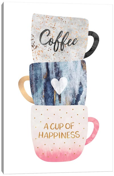 A Cup Of Happiness Canvas Art Print